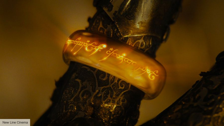 Lord of the Rings series: the One Ring around Sauron's fingers in one of the Lord of the Rings movies