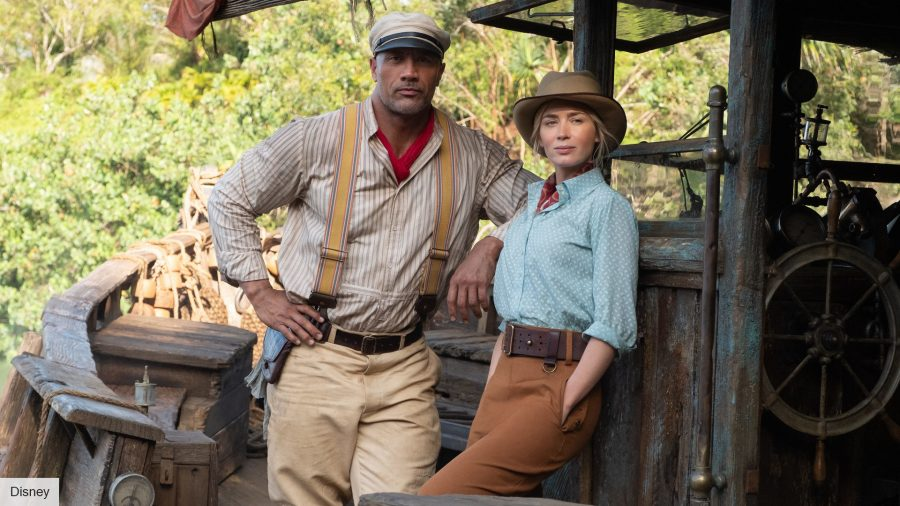 Dwayne Johnson and Emily Blunt in Disney's Jungle Cruise