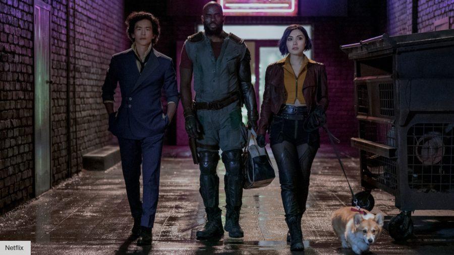John Cho, Mustafa Shakir, and Daniella Pineda in Netflix's Cowboy Bebop