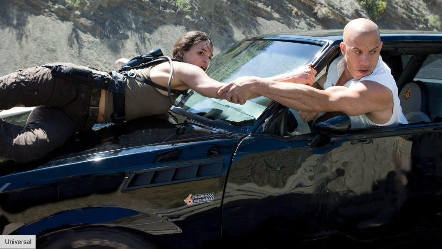 Vin Diesel and Michelle Rodriguez in Fast 9