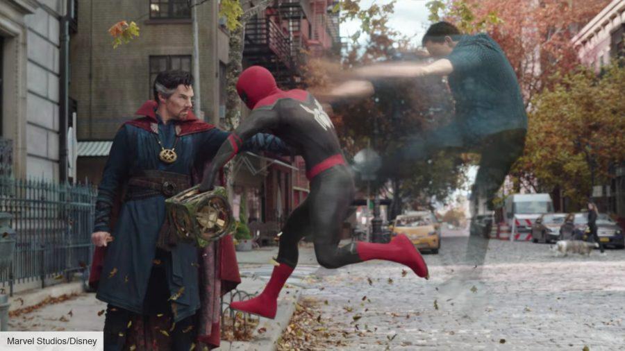 Spider-Man and Doctor Strange in Spider-Man: No Way Home