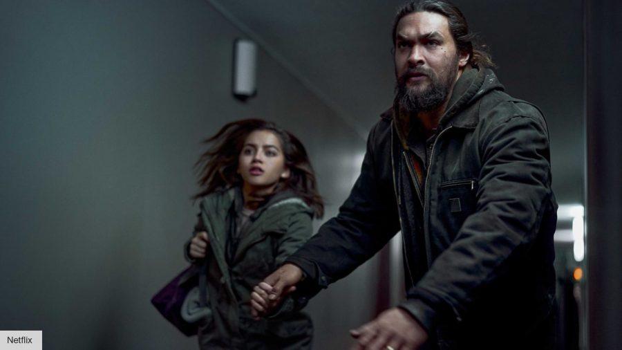 Jason Momoa and Isabela Merced in Sweet Girl on Netflix