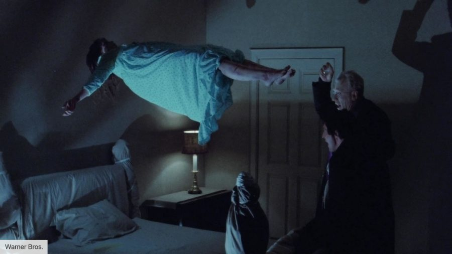 Regan MacNeil being exorcised in The Exorcist