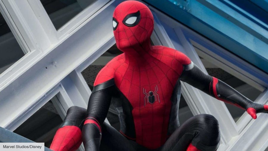no way no way home leaked set photo: Tom Holland in Spider-Man