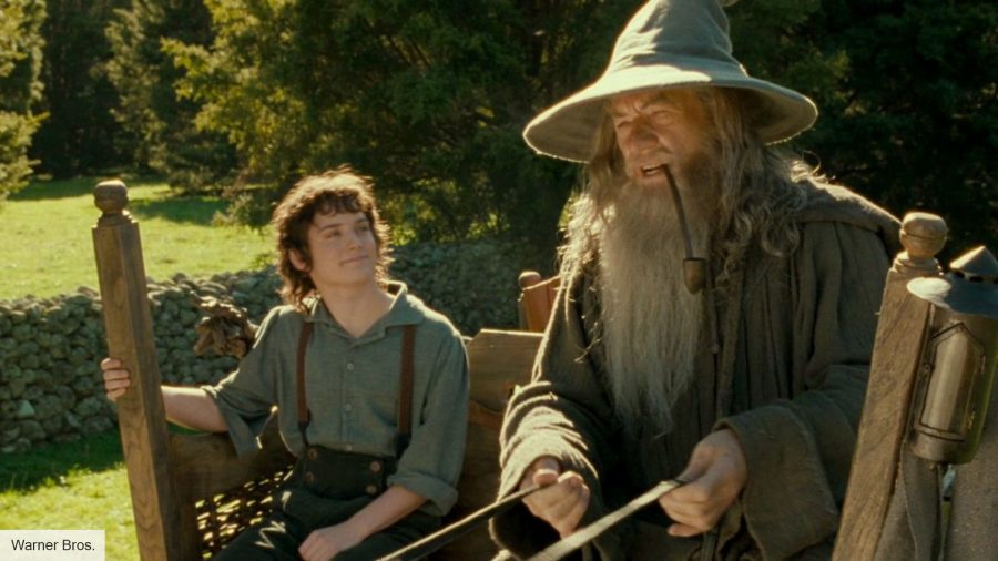 Gandalf and Frodo in The Lord of the Rings: The Fellowship of the Ring