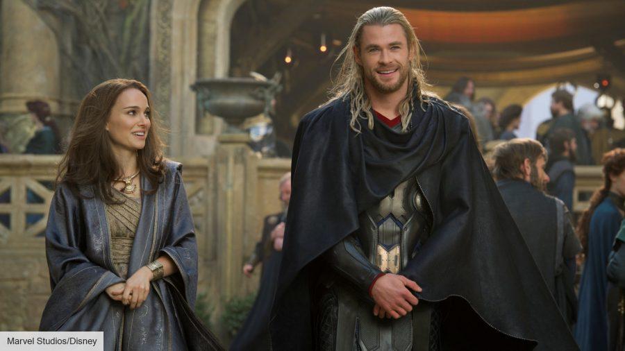 Natalie Portman and Chris Hemsworth inThor: The Dark World
