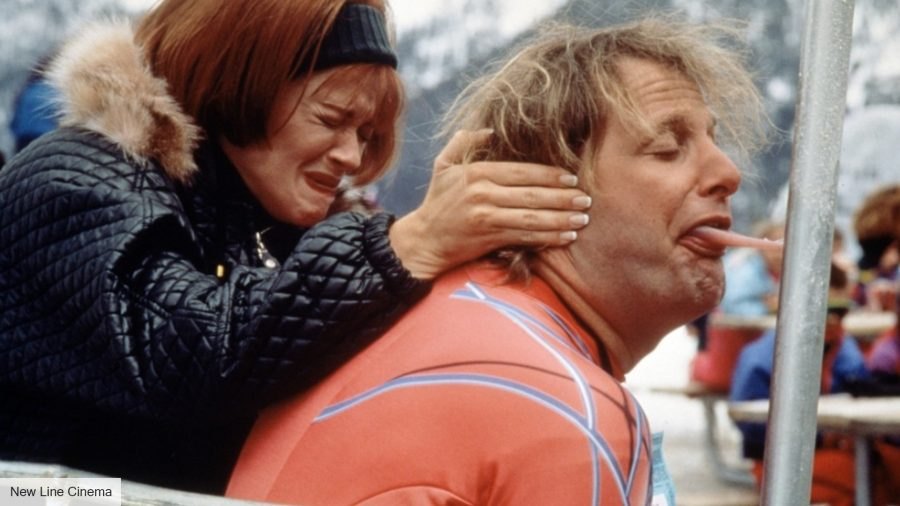 Jeff Daniels getting tonuge stuck to a pole in Dumb and Dumber