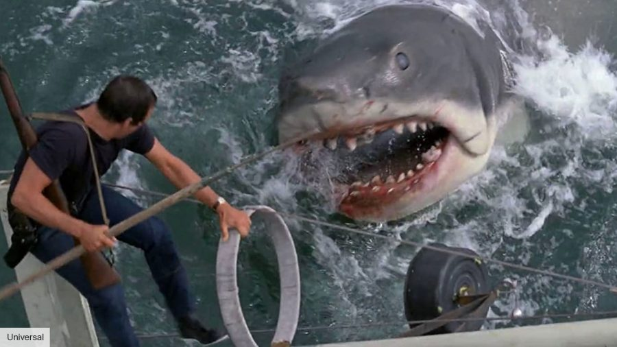 George Lucas got his head stuck in the mechanical shark form Jaws